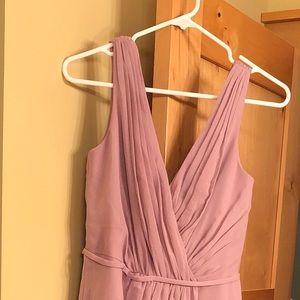 David's Bridal pink/mauve dress
